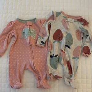 Newborn Carter's onesies